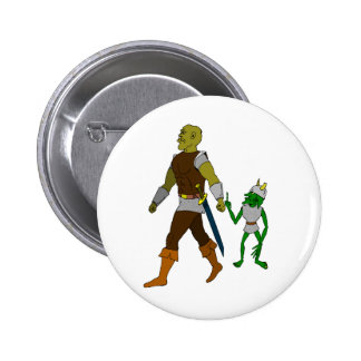 Goblin and Orc (black or white background) Button