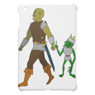 Goblin and Orc (black or white background) iPad Mini Covers