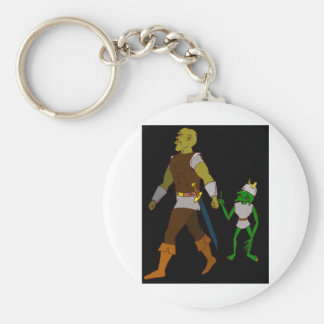 Goblin and Orc (black or white background) Keychain
