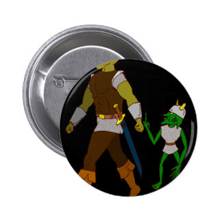 Goblin and Orc (black or white background) Pinback Button