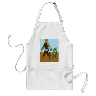 Goblin and Orc (landscape) Adult Apron