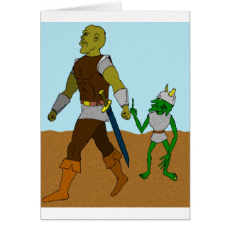 Goblin and Orc (landscape) Greeting Card