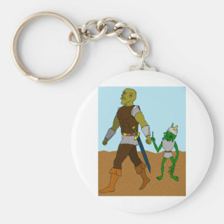 Goblin and Orc (landscape) Basic Round Button Keychain