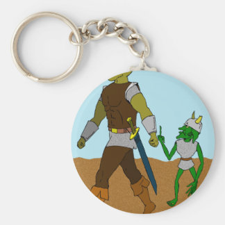 Goblin and Orc (landscape) Keychain