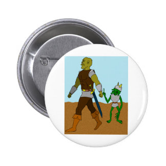 Goblin and Orc (landscape) Pinback Button
