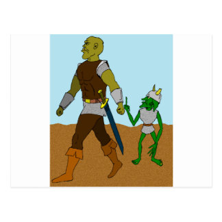 Goblin and Orc (landscape) Postcard