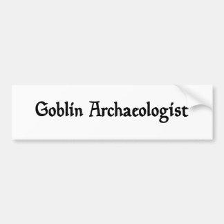 Goblin Archaeologist Bumper Sticker Car Bumper Sticker