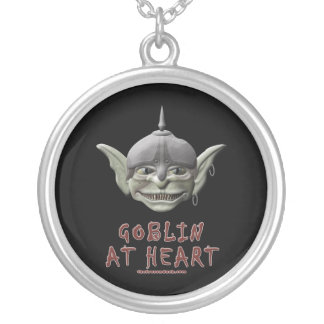 Goblin at Heart Round Pendant Necklace