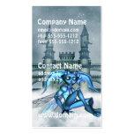 Goblin azul tarjeta de visita