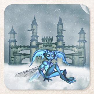 Goblin azul posavasos personalizable cuadrado