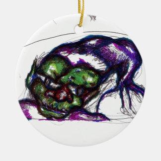 Goblin Ceramic Ornament