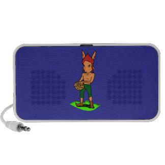 goblin con una galleta iPod altavoces