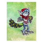 Goblin del pavo real tarjetas postales