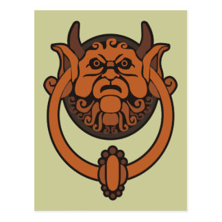 Goblin Door Knocker Postcard