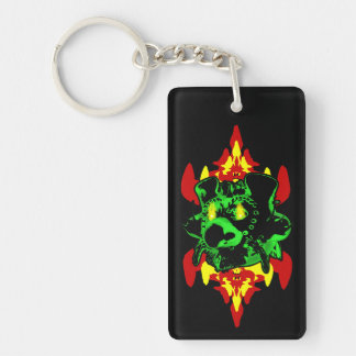 Goblin Fire Rectangle Acrylic Keychain