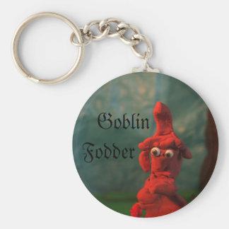 Goblin, forraje llavero redondo tipo pin