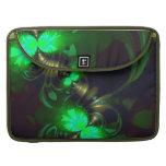 Goblin irlandés - cintas de la esmeralda y del oro funda para macbooks