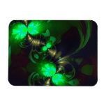 Goblin irlandés - cintas de la esmeralda y del oro imán rectangular