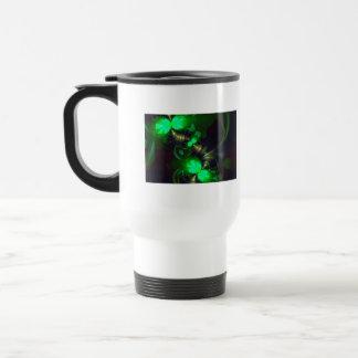 Goblin irlandés - cintas de la esmeralda y del oro tazas