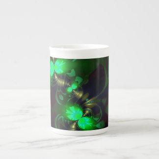 Goblin irlandés - cintas de la esmeralda y del oro tazas de china
