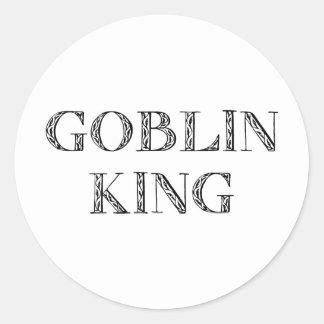 Goblin King Classic Round Sticker