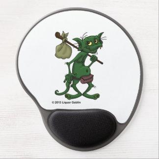Goblin Mousepad redondo del licor Alfombrillas Con Gel