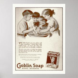Goblin Soap Vintage Magazine Ad Poster