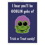 Goblin torpe tarjeta de felicitación