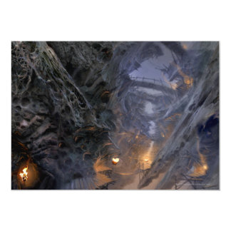 Goblin Town Concept - Bridges 5x7 Paper Invitation Card