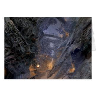 Goblin Town Concept - Bridges Greeting Card