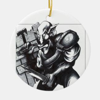 Goblin Warrior Ceramic Ornament