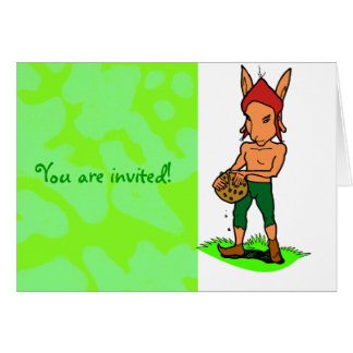 Goblin with a cookie greeting card