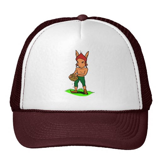 Goblin with a cookie trucker hat