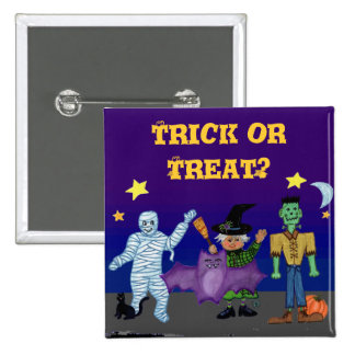 Goblins 2 Trick or Treat Square Pin