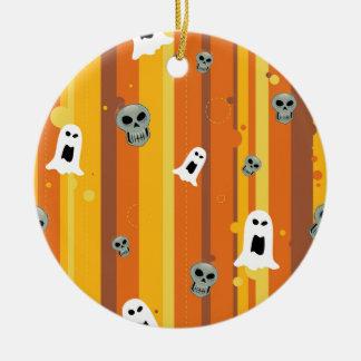 Goblins de Halloween Adorno Navideño Redondo De Cerámica