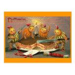 Goblins de Halloween del vintage Postal