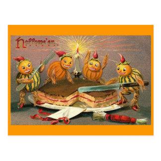 Goblins de Halloween del vintage Tarjeta Postal