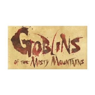 Goblins de las montañas brumosas impresión en tela