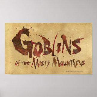 Goblins de las montañas brumosas póster