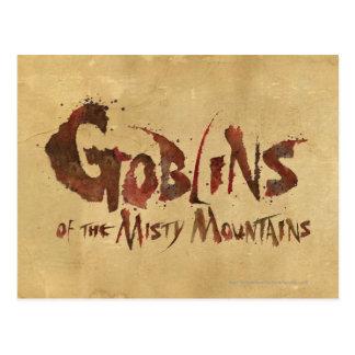 Goblins de las montañas brumosas tarjeta postal