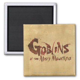 Goblins of the Misty Mountains 2 Inch Square Magnet