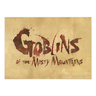 Goblins of the Misty Mountains Card