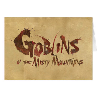 Goblins of the Misty Mountains Greeting Card