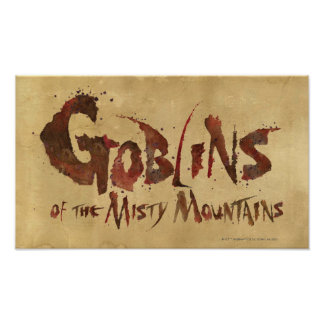 Goblins of the Misty Mountains Poster