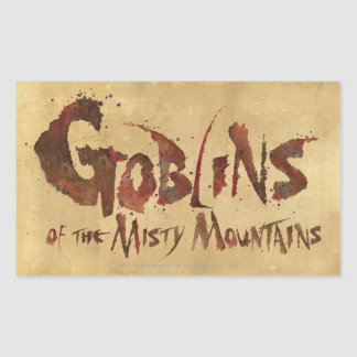 Goblins of the Misty Mountains Rectangular Sticker