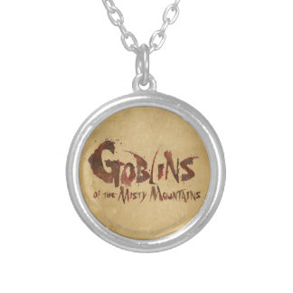 Goblins of the Misty Mountains Round Pendant Necklace