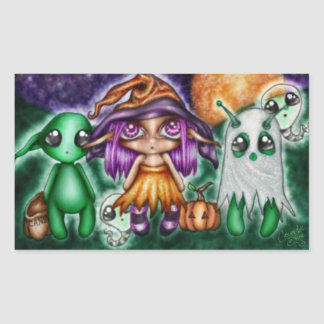 Goblins Witches Scares- Oh My Halloween Cute Stickers
