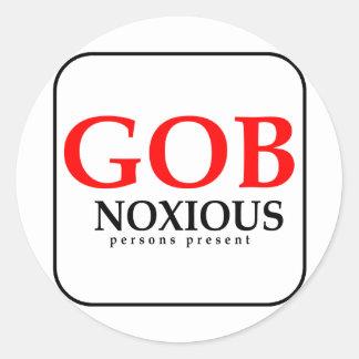 GobNoxious Person Present Stickers