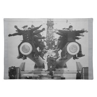 """Gobs"" and Guns on the USS Texas Cloth Placemat"