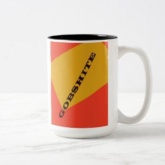 """""""Gobshite"""" Two-Tone Coffee Mug"""